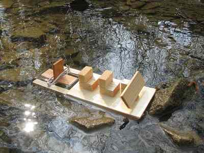 Rubber Band Boat