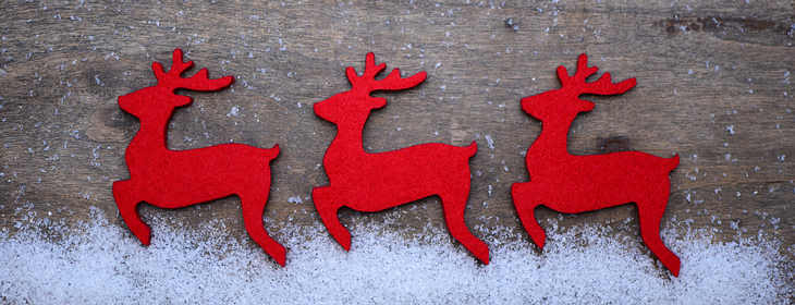Reindeers made of plywood