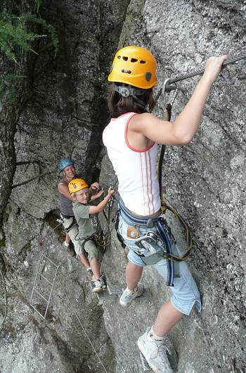 Climbing at via ferrata
