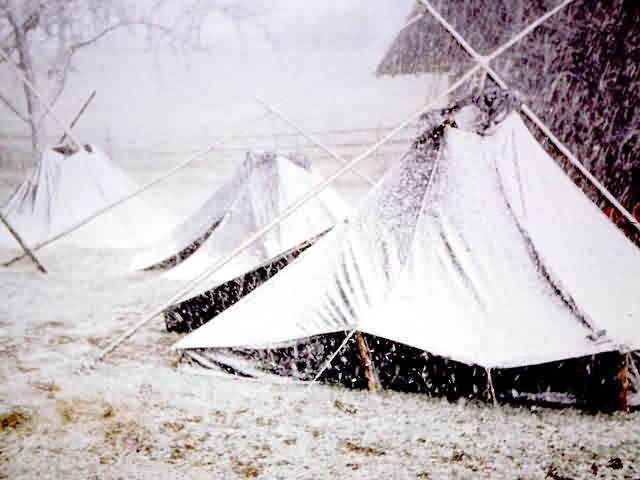 snow camp with lapp teepee (kota)