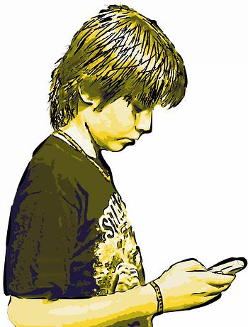 Youth with a smartphone