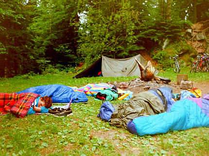 Bivvy: sleep rough in the forest